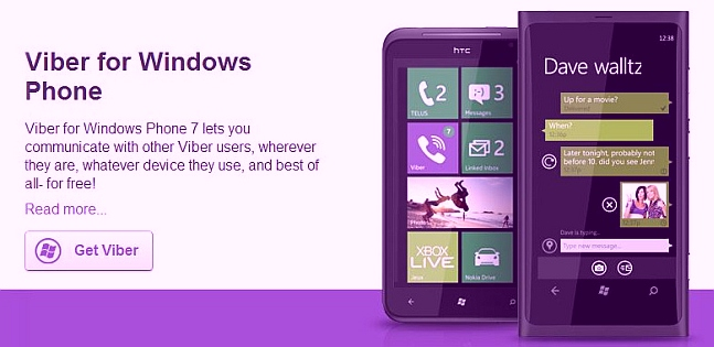 Download Viber for Nokia Lumia